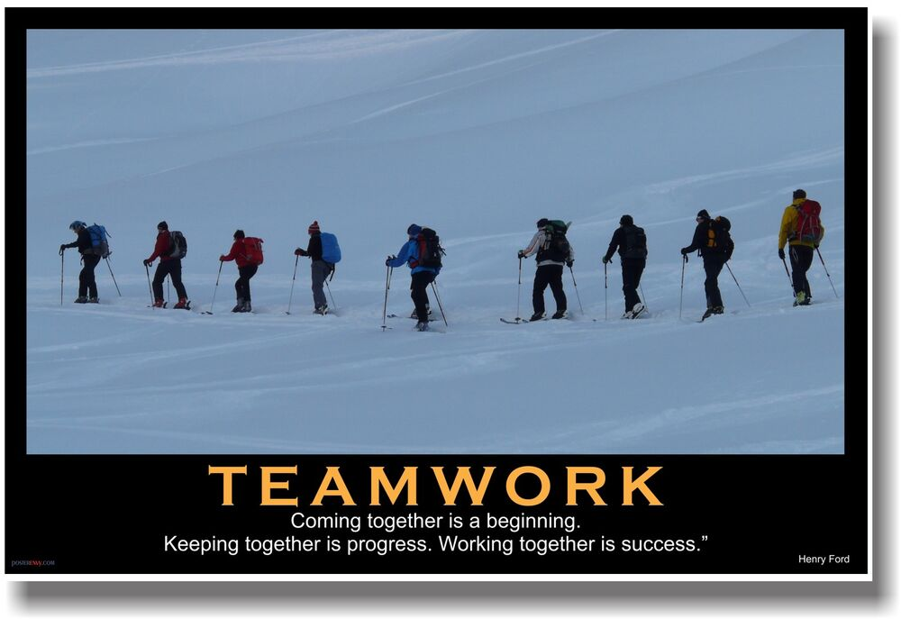 NEW Motivational TEAMWORK POSTER - Henry Ford Quote ...