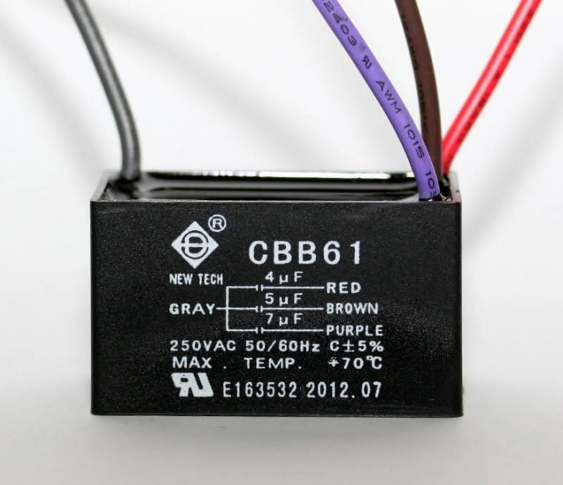 Ceiling Fan Capacitor Cbb61 4uf 5uf 7uf 4 Wire Genuine