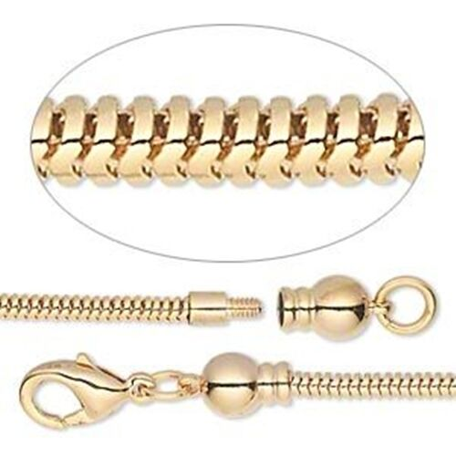 dione 8 5 quot add a bead gold plated 2 6mm snake chain