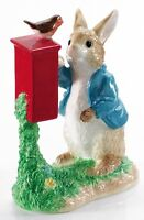 Beatrix Potter Ceramic Peter Posting Letter Figurine Figure Ornament A7154 New