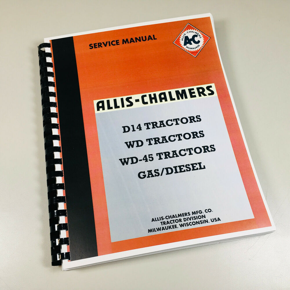 Allis Chalmers D14 Wiring Diagram Library Wd Harness D 14 Tractor Service Technical Repair Shop Manual New Print Ebay