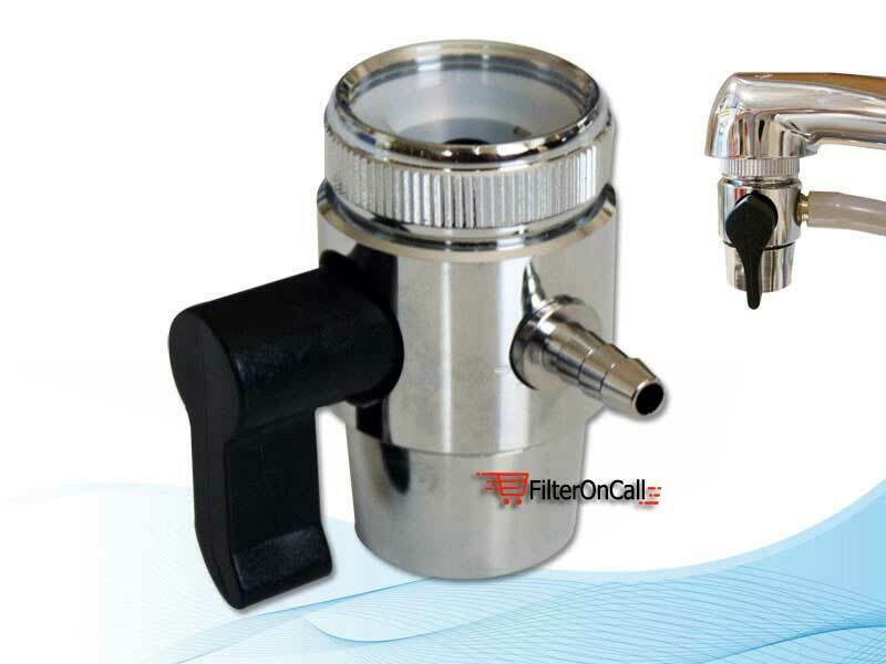 Lead free faucet adapter diverter valve ro water filter