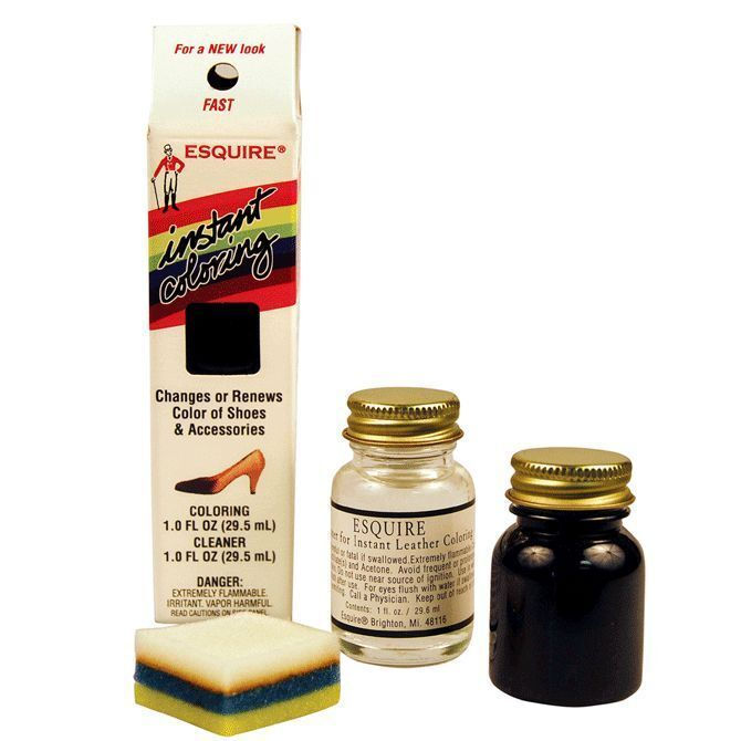 esquire instant leather shoe coloring dye 23 colors ebay