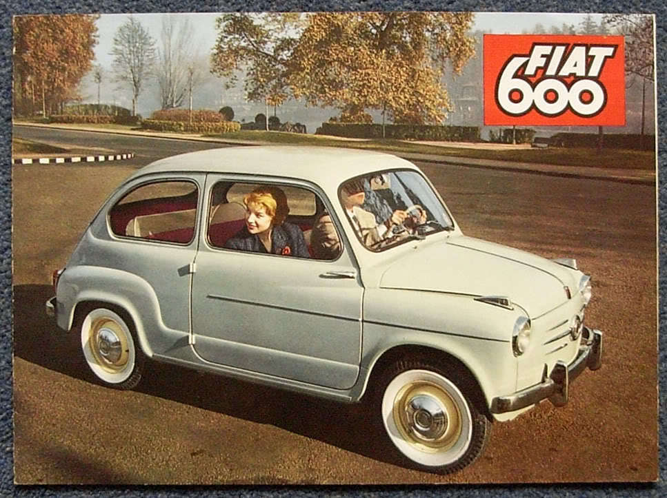 fiat 600 saloon convertible multipla sales brochure 1959 1419 ebay. Black Bedroom Furniture Sets. Home Design Ideas