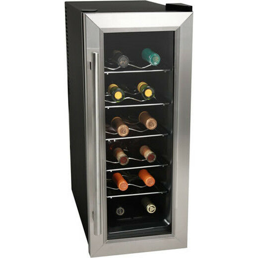 Koldfront 12 Bottle Slim Fit Wine Cooler Stainless Steel