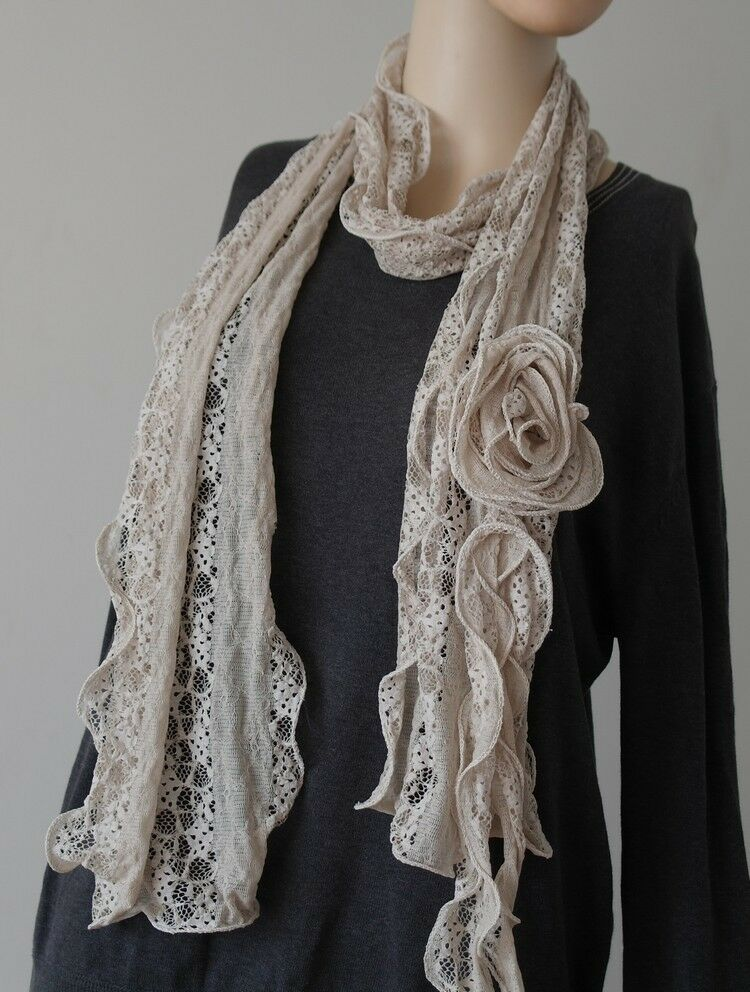 various color woemn lace flower scarves wraps ebay