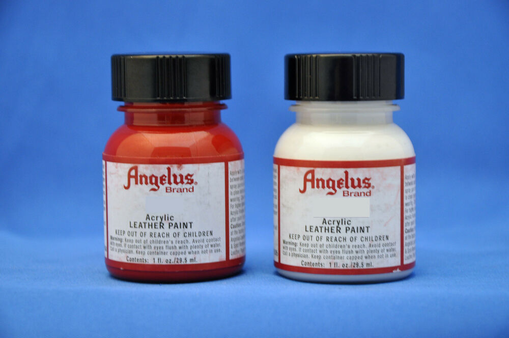 2 x angelus acrylic paint water resistant 1 oz 26 colors