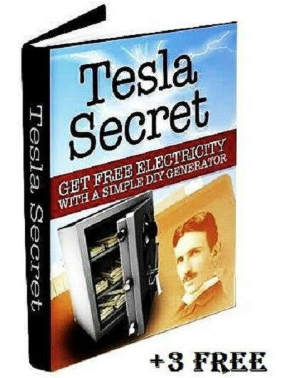 Nikola Tesla Generator Coil Secret Blueprints E Book Free Power Energy ...