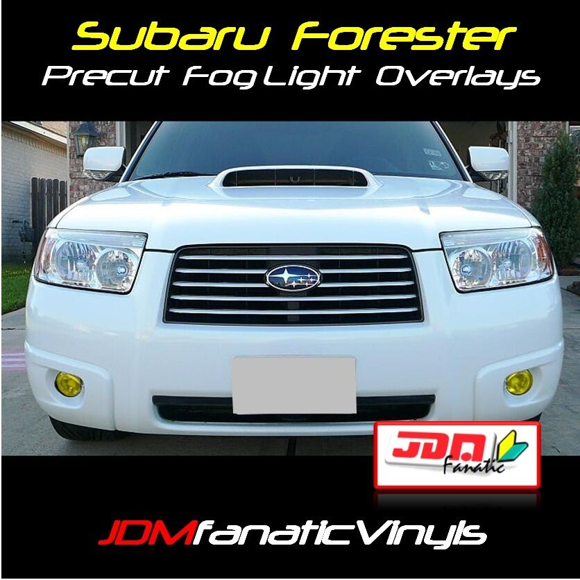 Impreza Wrx Sti >> 06-08 Forester Fog light Yellow Overlays Tint Vinyl Film ...