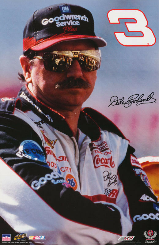 poster nascar dale earnhardt sr 3 free shipping. Black Bedroom Furniture Sets. Home Design Ideas