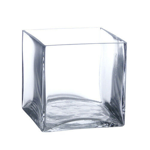 X Square Glass Vase
