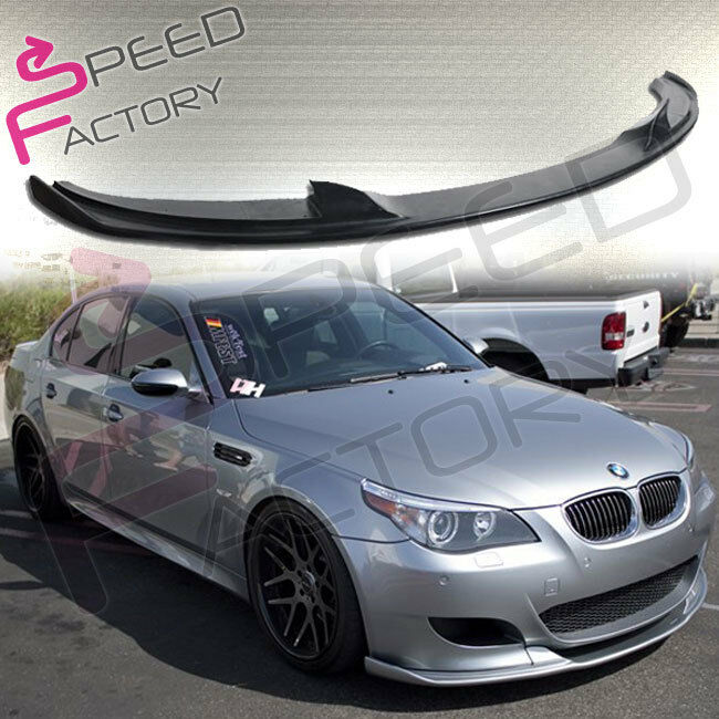 06 11 bmw e60 m5 poly urethane black front bumper lip. Black Bedroom Furniture Sets. Home Design Ideas