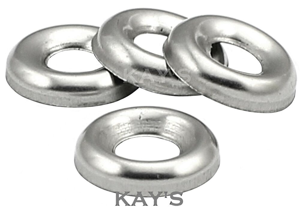 Screw Cup Washers For No 6 8 10 12 Countersunk Screws A2