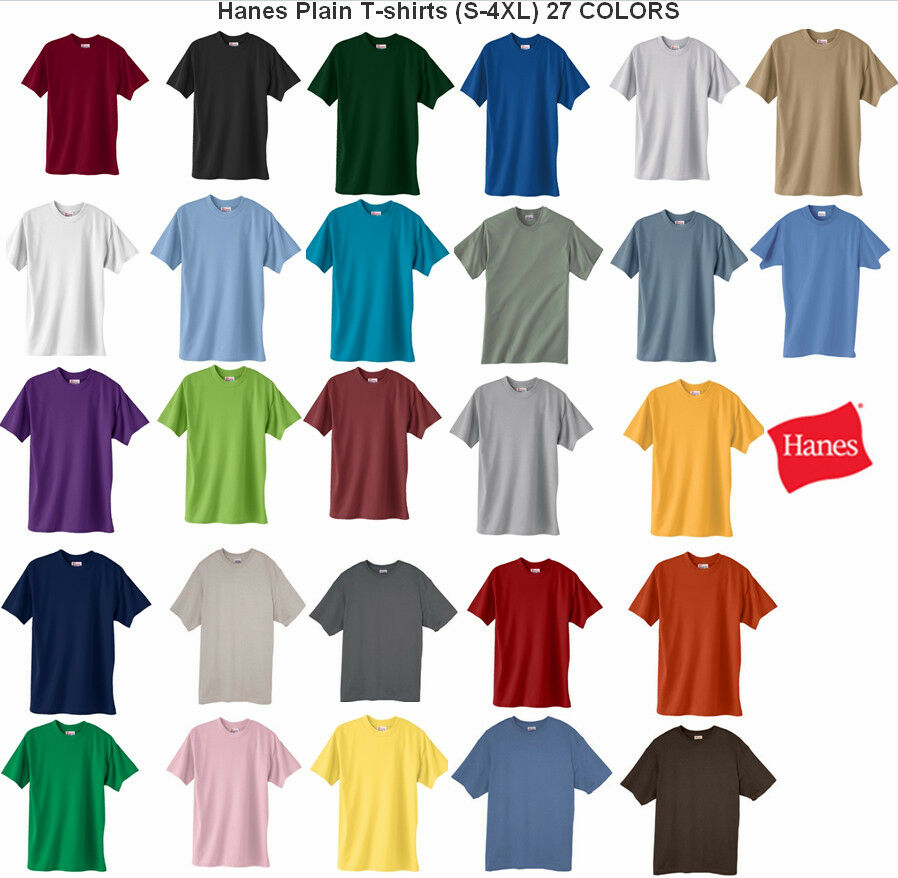 Hanes comfortblend plain basic short sleeve adult t shirt for One color t shirt