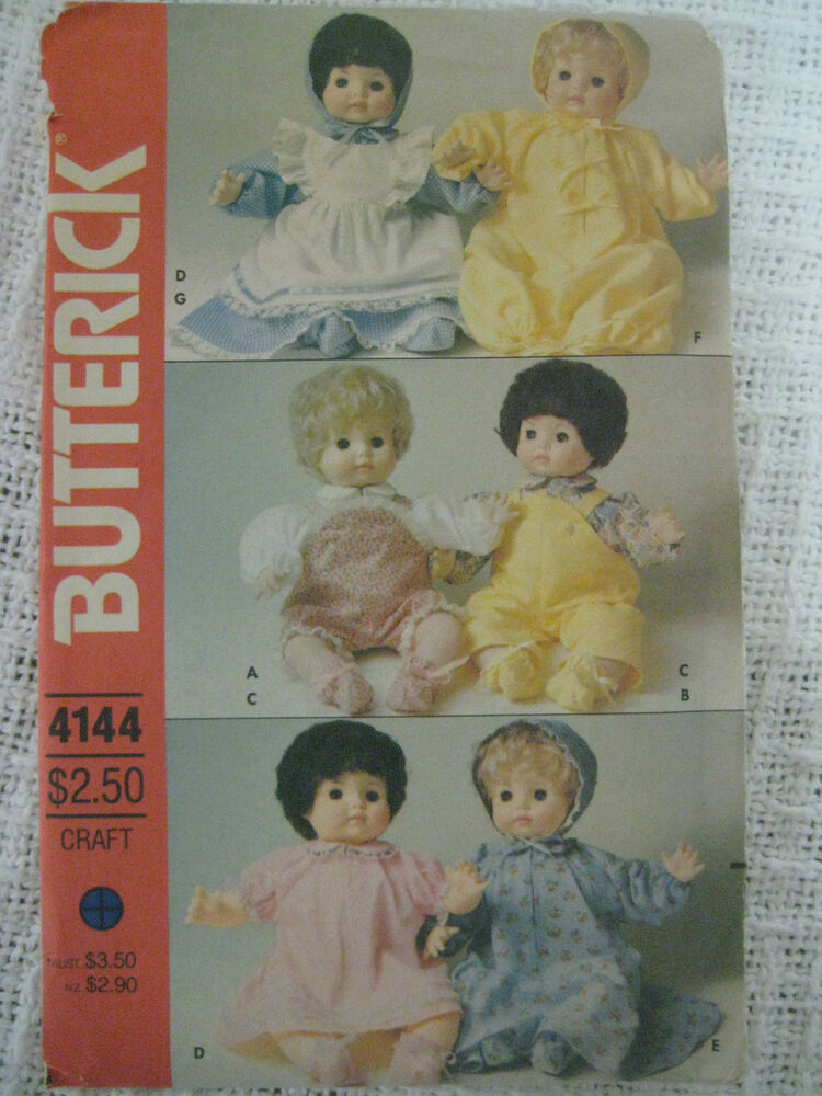 Vintage Butterick 4144 Baby Doll Clothes Sewing Pattern