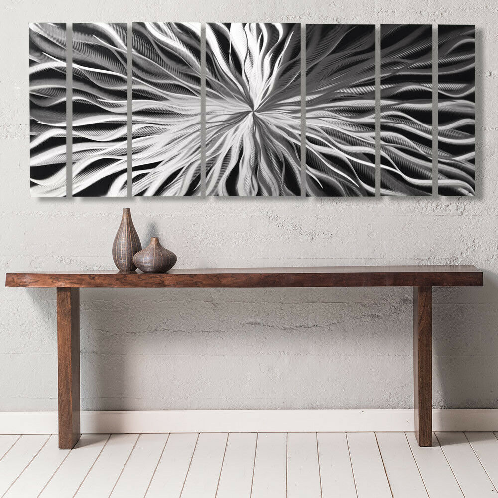 modern contemporary abstract metal wall sculpture art work painting home decor ebay. Black Bedroom Furniture Sets. Home Design Ideas