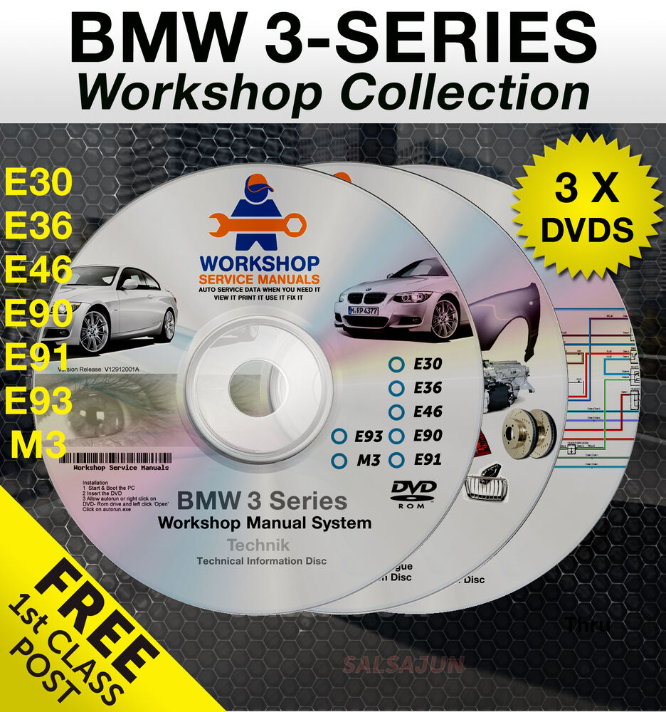 bmw 3 series workshop service manual e30 e36 e46 e90 e91