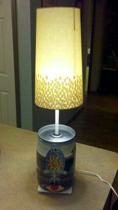 Bells OBERON beer 5L Mini Keg Lamp 2010 can bell's light ...
