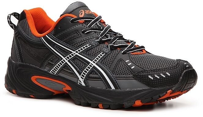 Asics Men's Gel Venture 3 Running Shoes - BLACK/ORANGE