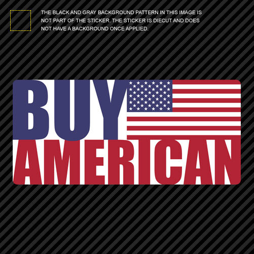 "3"" Buy American Sticker Die Cut Decal Self Adhesive USA ..."