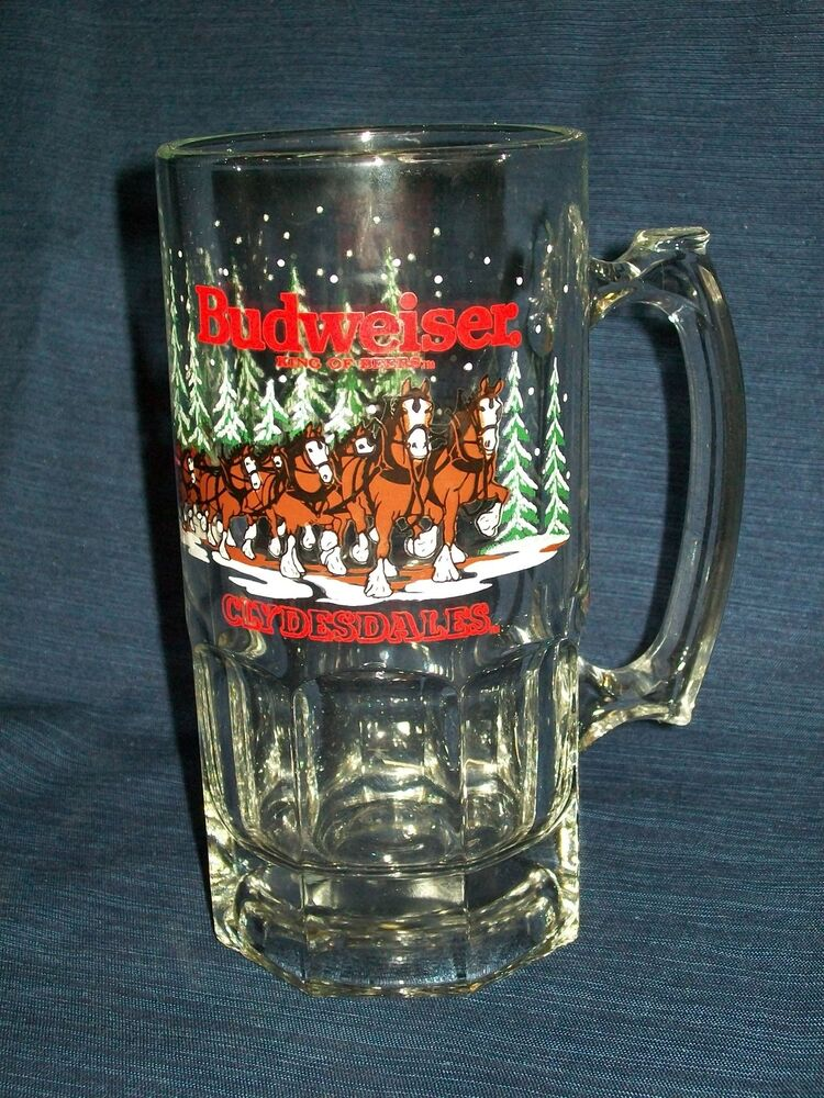 """Vintage 8"""" BUDWEISER Clydesdales Christmas Winter 1989 ..."""