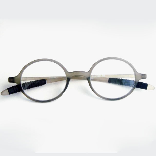 Gray Frame Reading Glasses : TR-90 Round Light Grey MAN Eyeglass Frame Reading glasses ...