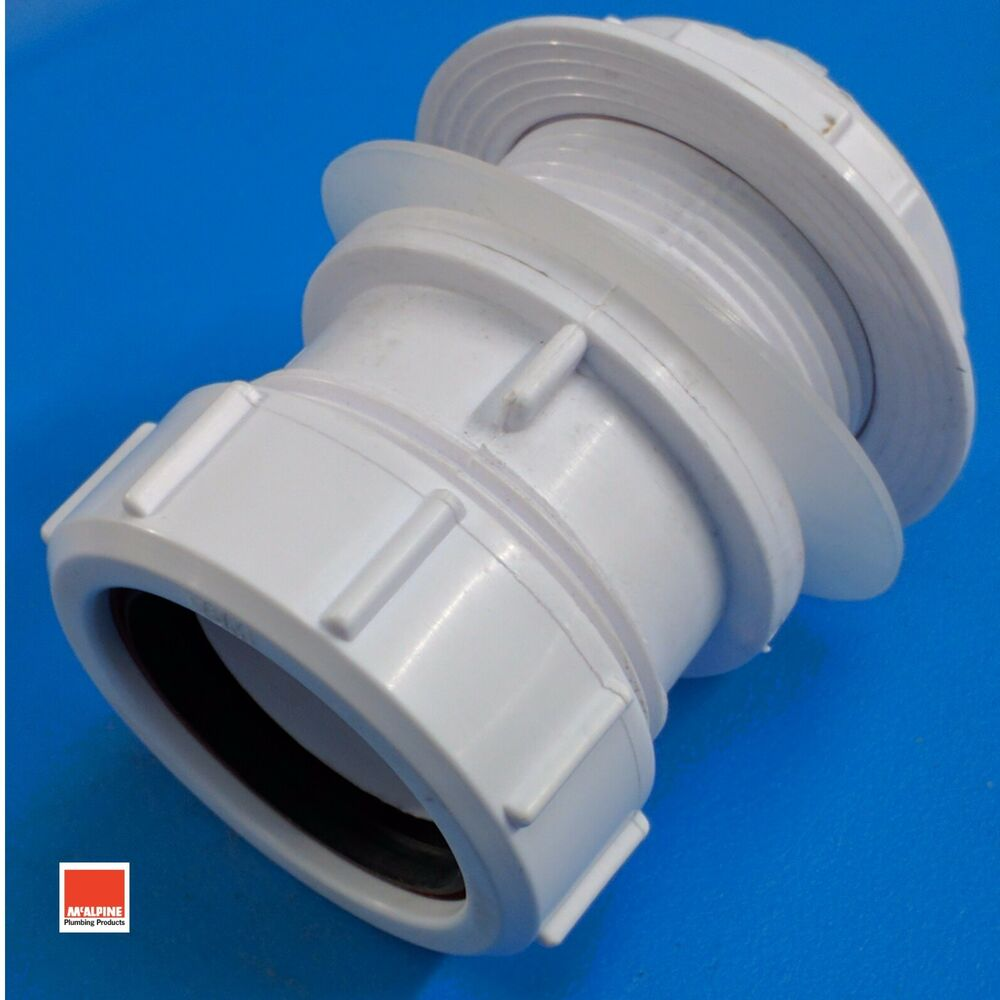 Mcalpine Multifit Straight Tank Connector For 32mm 1 1 4