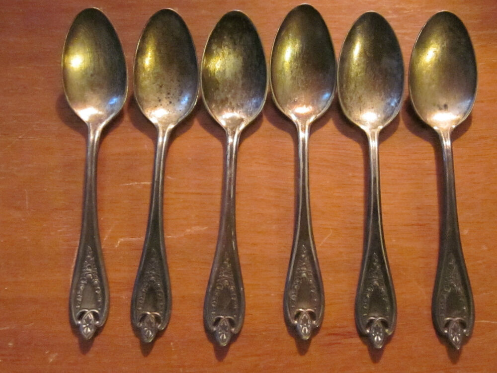 6 silverplate teaspoons pattern 39 old colony 39 1847 rogers for 6 table spoons