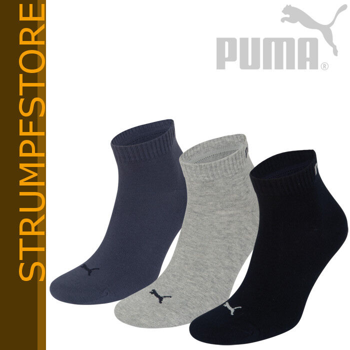 puma socken sneaker quarter damen herren 3 paar 35 38 39. Black Bedroom Furniture Sets. Home Design Ideas
