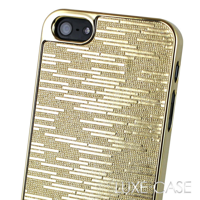 iphone 5 cases designer iphone 5 cover gold glitter sparkle bling luxury 14497