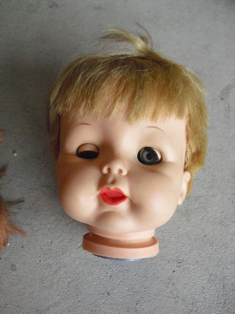 Vintage 1960s Vinyl Effanbee Blonde Hair Girl Doll Head Ebay