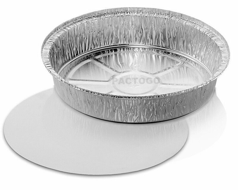 9 Quot Round Aluminum Foil Take Out Pan Board Lid Combo 25