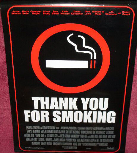a film analysis of thank you for smoking starring aaron eckhart Thank you for smoking targets the pro-smoking lobby with a dark appreciation of human nature it stars aaron eckhart as nick starring dwayne johnson and other.