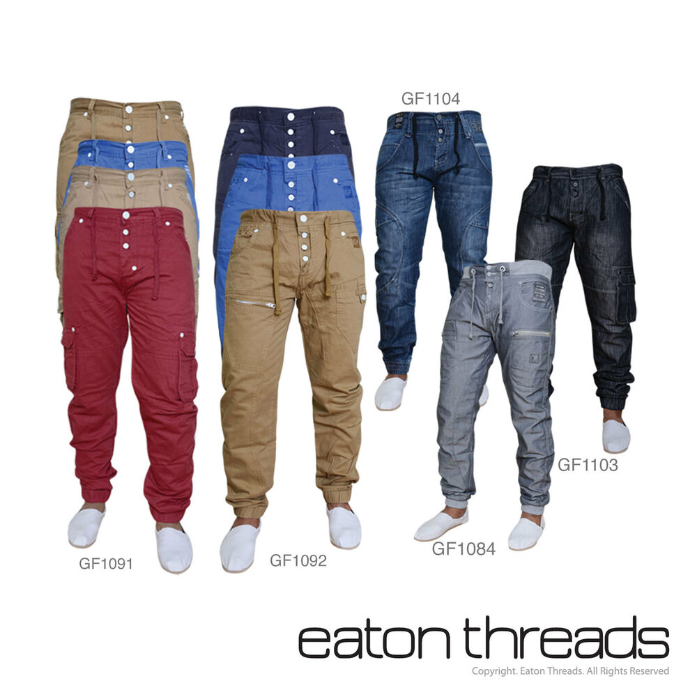 NEW Mens Jeans Joggers Combat Cargo Chinos Waist Sizes 28 ...