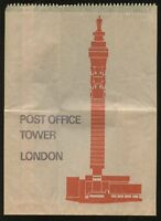POST OFFICE TOWER 1967 CARD + BROWN GIFT BAG