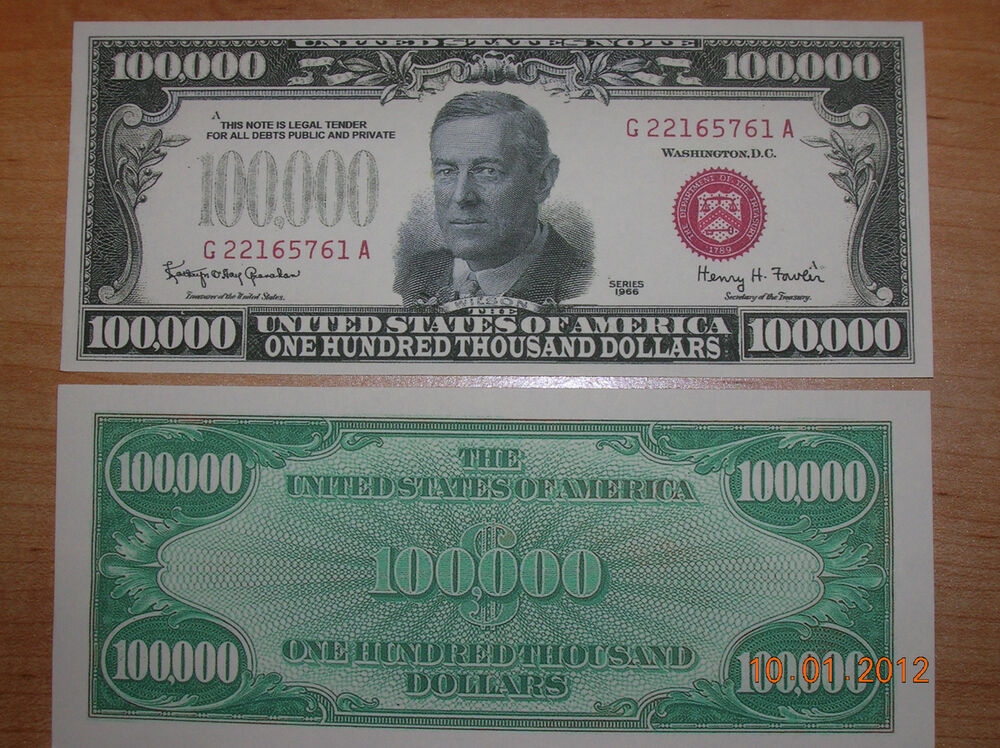 replica 1966 100 00 red seal fantasy copy paper us money currency note ebay. Black Bedroom Furniture Sets. Home Design Ideas