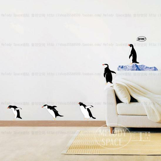 Penguin Home Decor Removable Wall Sticker Decal Decoration Ebay