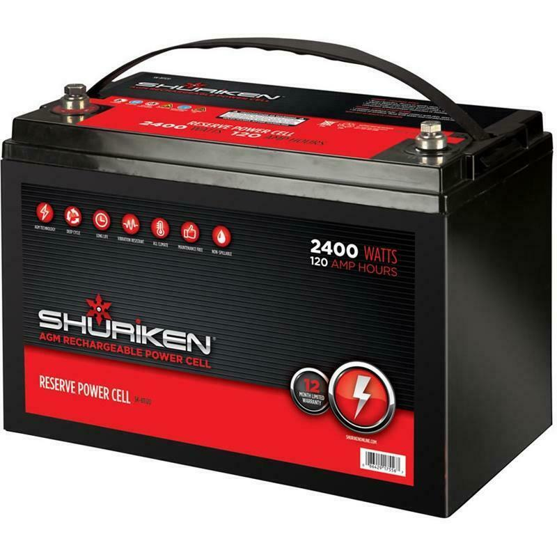 shuriken sk bt120 2400w 120ah large reserve capacity agm 12v power cell battery ebay. Black Bedroom Furniture Sets. Home Design Ideas