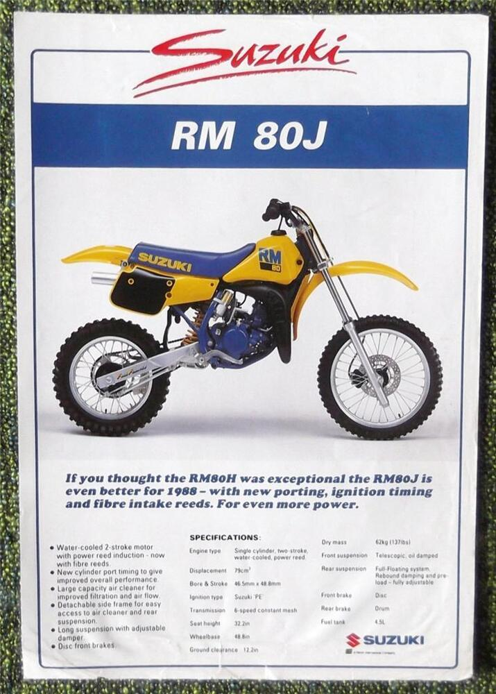 Suzuki Rm  Parts List Uk