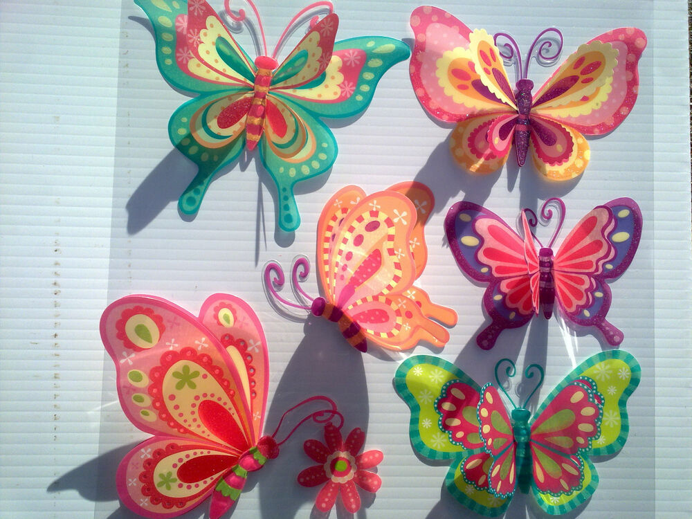 3d removable butterfly art decor wall stickers kids room for Butterfly wall mural stickers