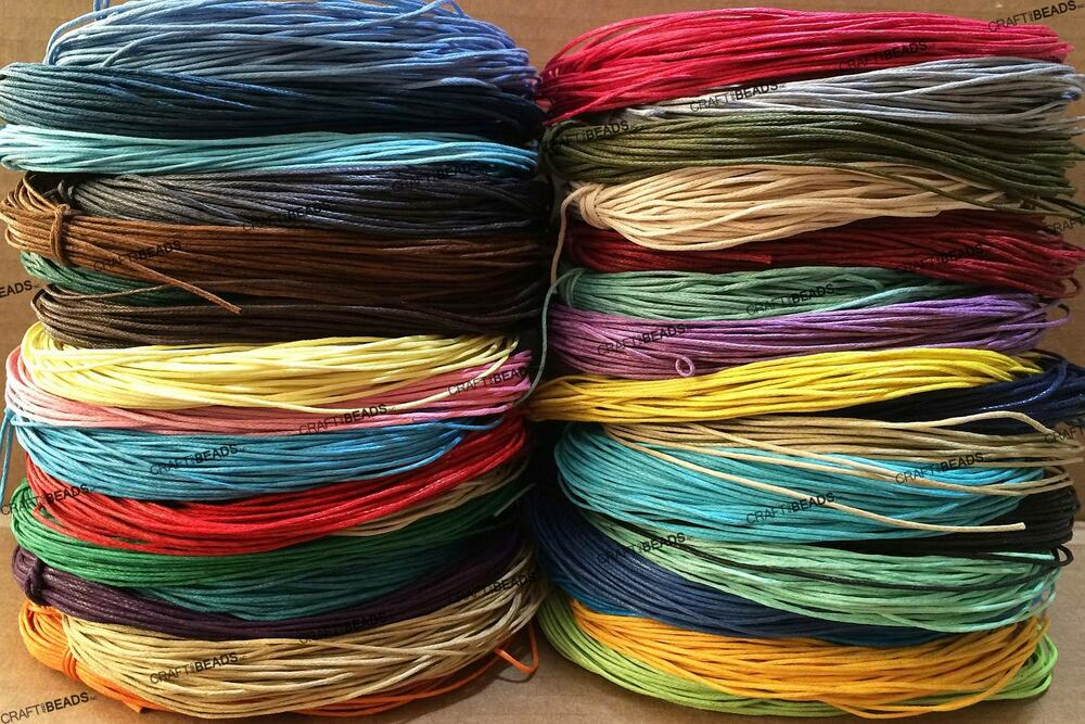 macrame strings 1mm waxed cotton braided cord wax macrame beading jewelry 4958