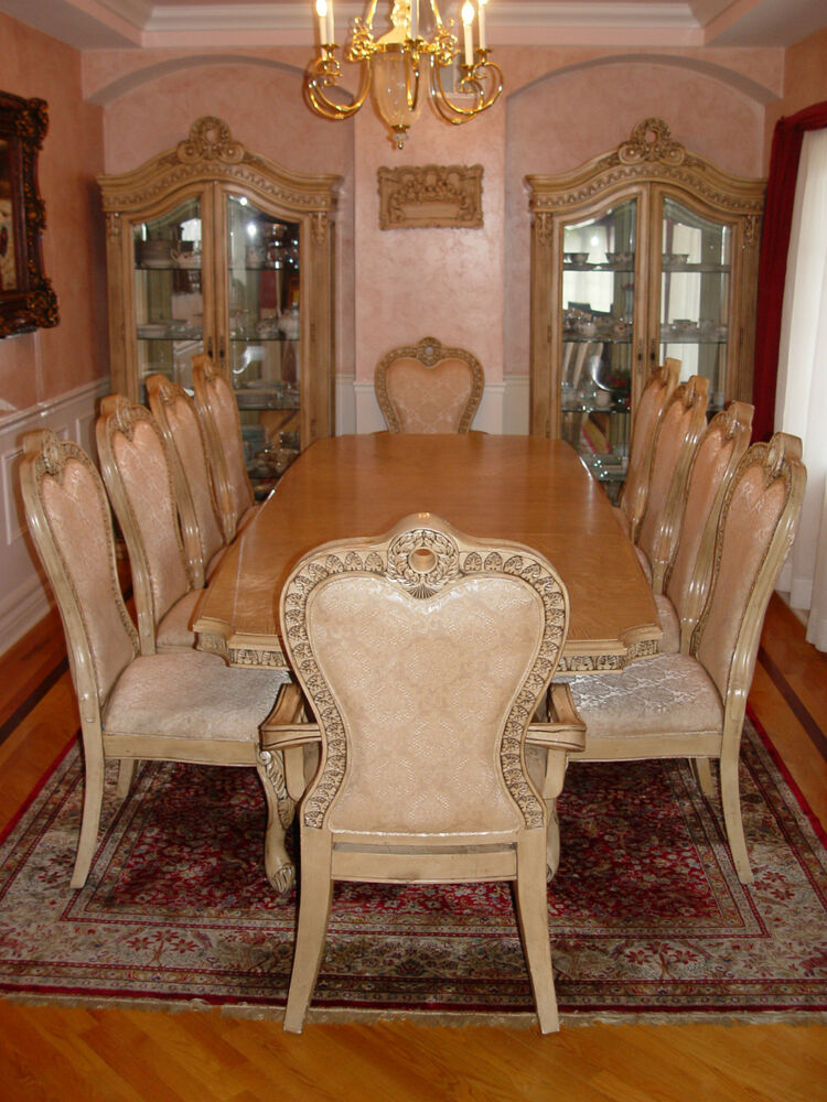Antique White Dining Room Furniture: Traditional Formal 13 Pc Dining Room Set Table & Chairs