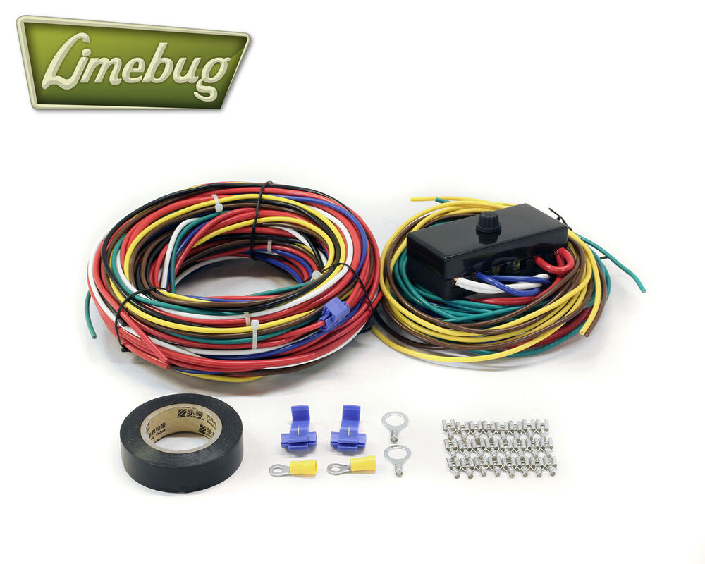 Details About Vw Wiring Loom With Fuse Box T1 Beetle Buggy Bug Baja