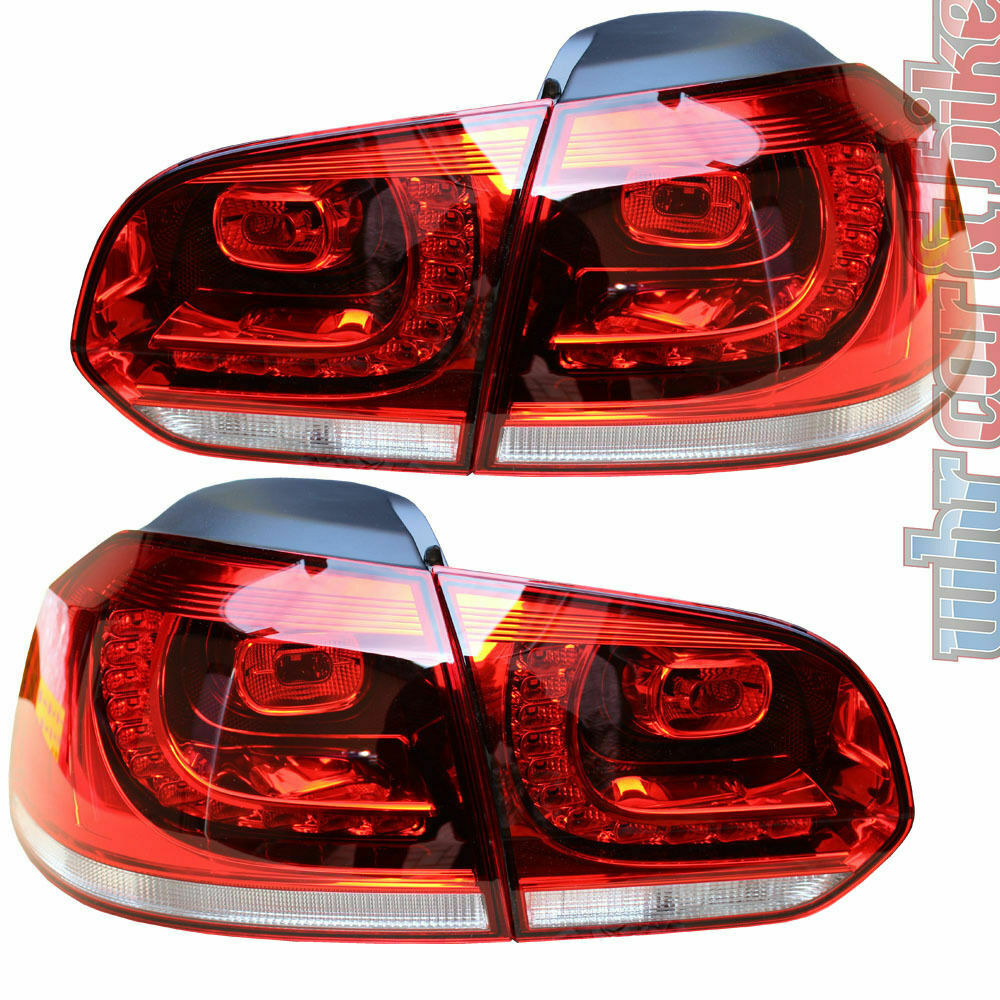 hella led heckleuchten set vw golf 6 vi rot r ckleuchten gti gtd r line ebay. Black Bedroom Furniture Sets. Home Design Ideas