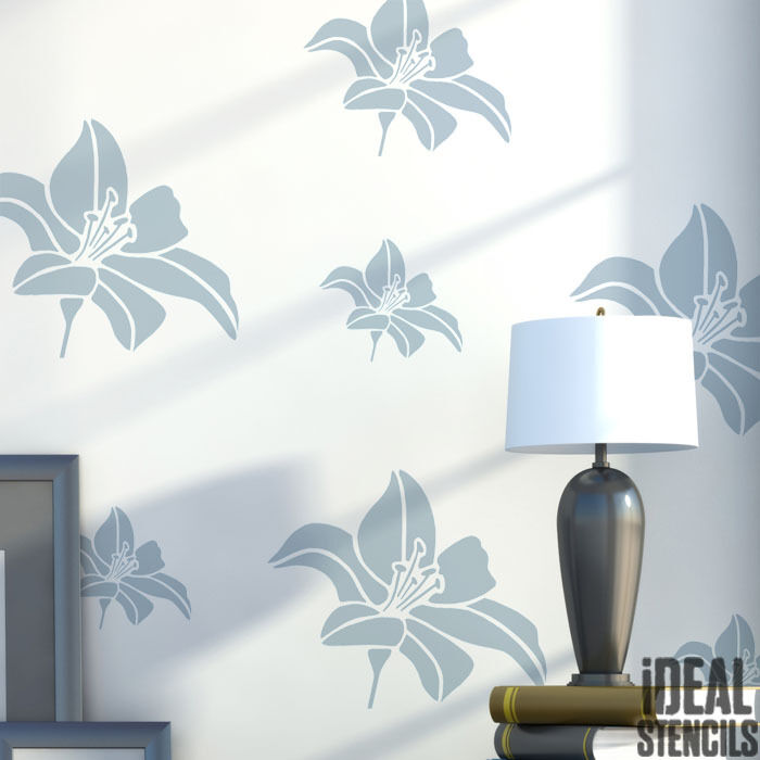 wall stencils for living room flower stencil floral wall decor craft paint 22071