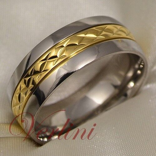 mens wedding rings gold titanium ring 14k gold men s wedding band infinity bridal 5816