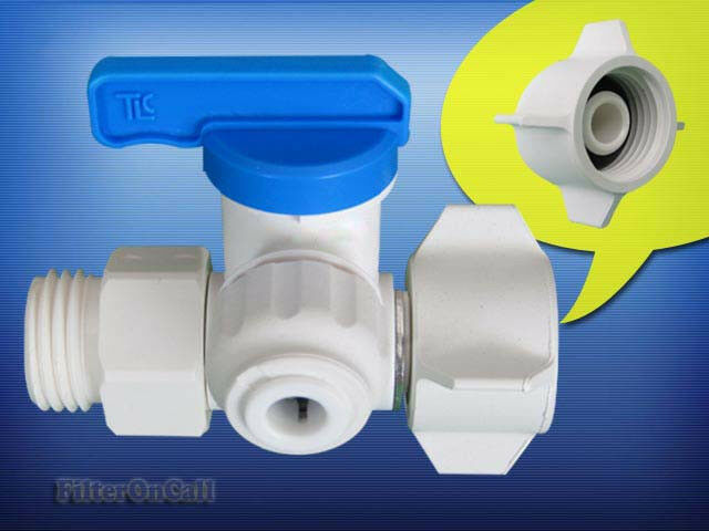 Twistloc Angle Supply Stop Feed Water Adapter Ball Valve 1