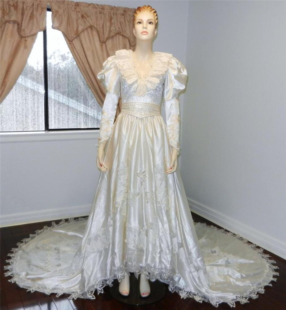 vintage wedding dress size 4 lb c0194 ebay