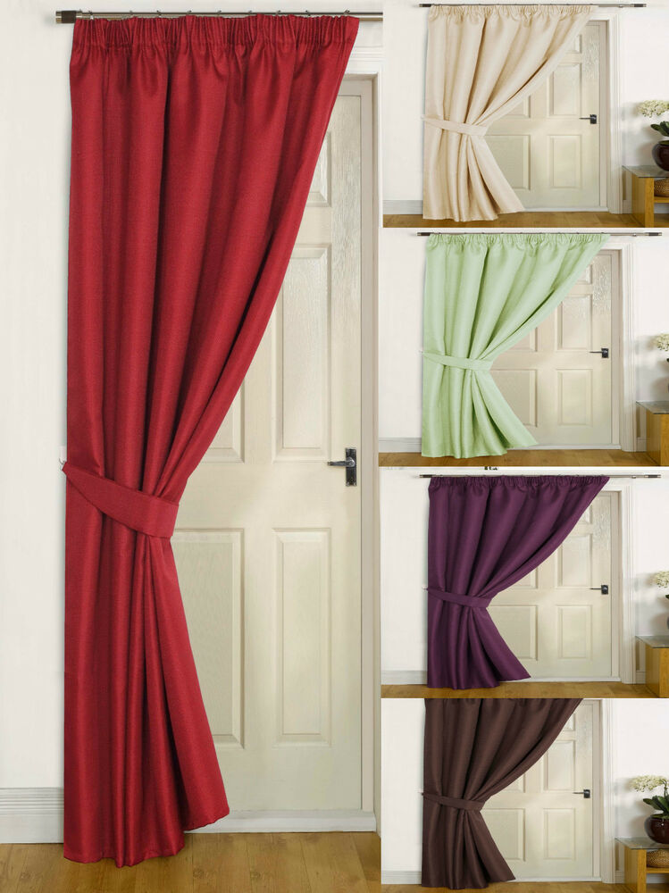 Canterbury Thermal Door Lined Winter Curtains Energy