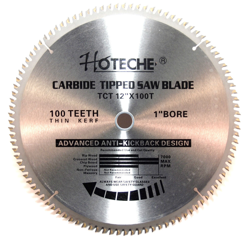 Lot Of 3 Carbide Tipped Saw Blade 12in X 100t Ebay